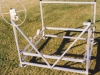 4000 lb.  Easy Riser Vertical Boat Lift shown with Cradles and Keel Boards
