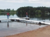 Floating Dock with T-shape on wheels